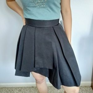 French Connection Black Pleated Mini Skirt